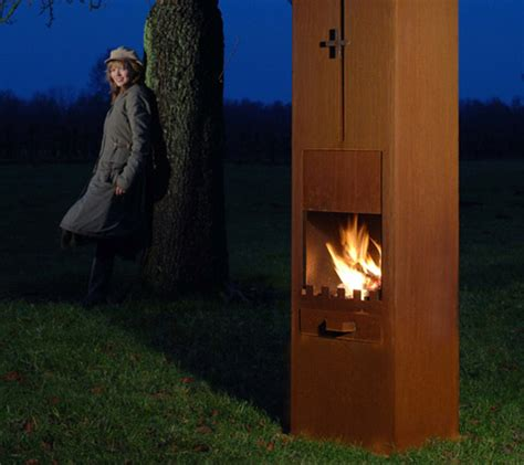 corten steel fireplaces  zeno