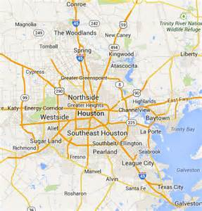 houston map and surrounding areas houston map and surrounding areas