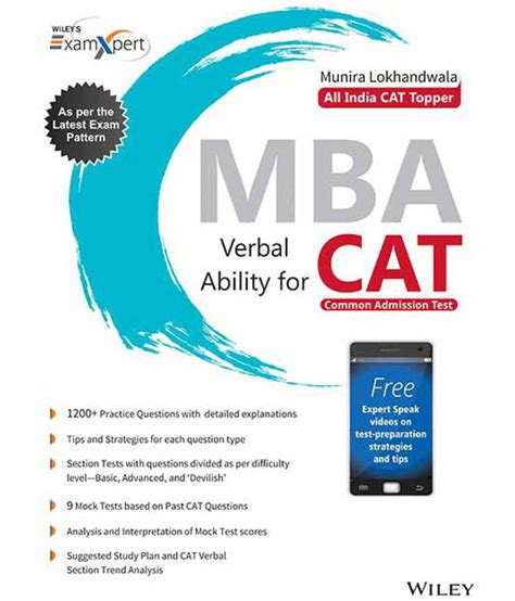 Mba From Sms by Wiley S Xpert Mba Verbal Ability For Cat Buy Wiley