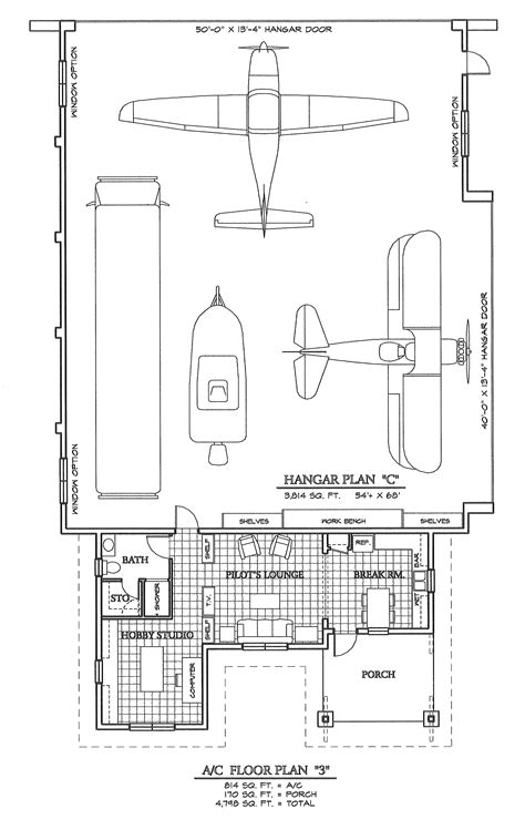 Hangar Homes Floor Plans | hangar building plans images