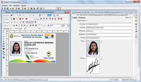 credenciales escolares formato software de credenciales