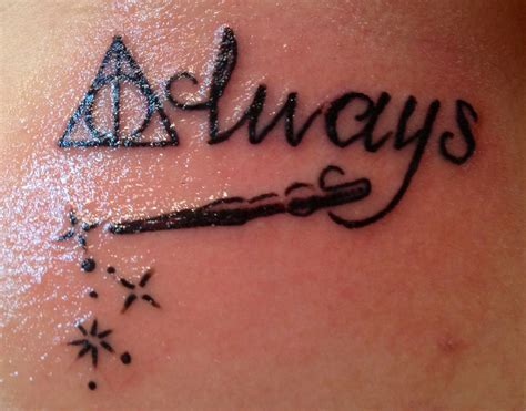always tattoo harry potter pin by san nicolas on tattoos piercings
