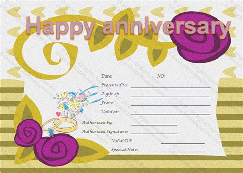 anniversary gift card template wedding anniversary gifts wedding anniversary gift
