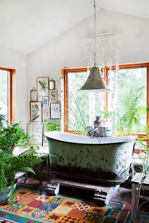 boho chic bathroom recycled boho bath panda s house