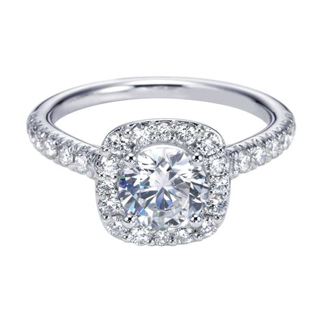 halo engagement rings hd cushion