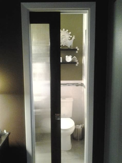 Bathroom Pocket Doors by Glass Pocket Door For Small Bathroom Bathroom Redo