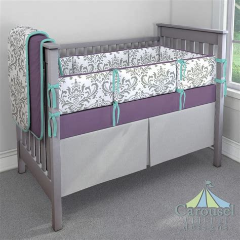 purple and gray crib bedding 1000 ideas about teal and gray bedding on pinterest