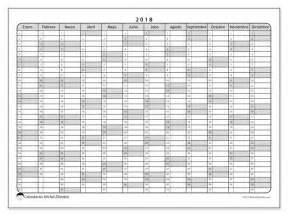 Calendario 2018 Imprimible Calendarios Para Imprimir 2018 Espa 241 A