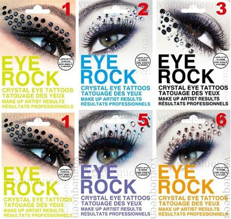 temporary eye tattoos eye rock rhinestone eye eyeliner sticker