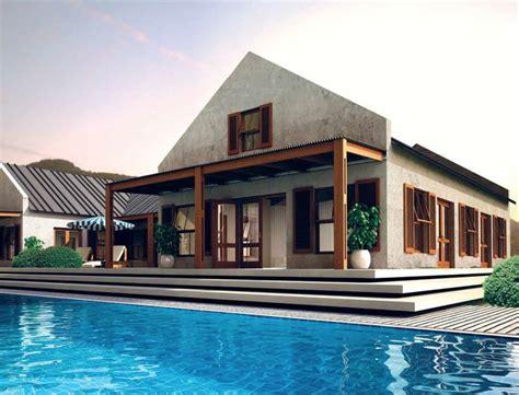 modern vernacular cape dutch designed house  south africa ive     house