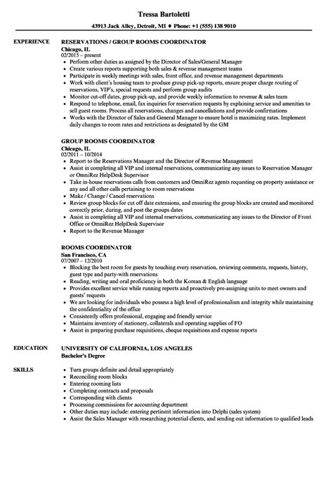 Rooms Coordinator Cover Letter by Rooms Coordinator Cover Letter House Rent Slips Fluid Mechanical Engineer Sle Resume