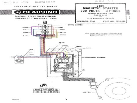 magnetic starter wiring diagram for 220 free