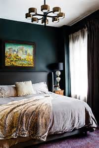 dark walls bedroom bold style and smart solutions in a south end brownstone
