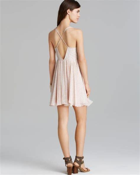 Dress Bonia guess dress bonita liberty in beige affair pink multi lyst