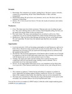 Personal Analysis Essay by Swot Analysis