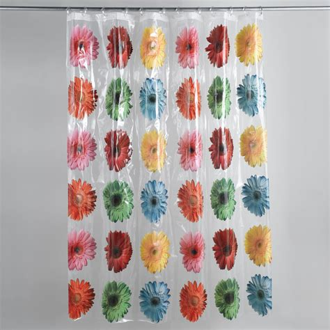 gerber daisy shower curtain colormate gerber daisy shower curtain