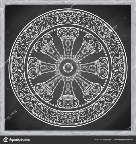buddha illuminazione ruota dharma dharmachakra simbolo degli insegnamenti