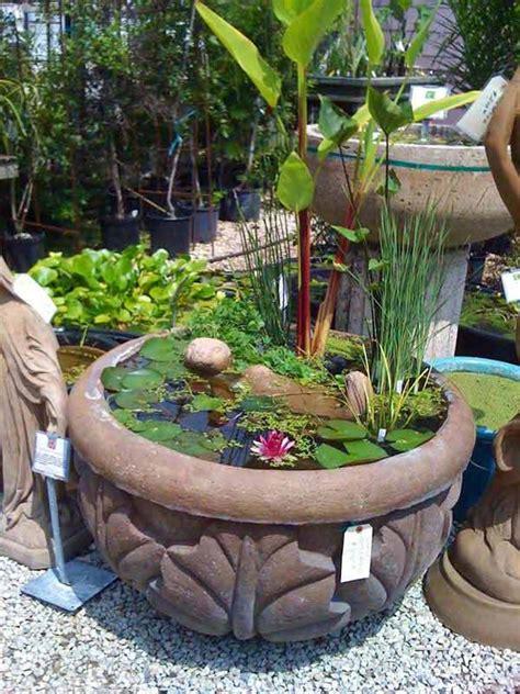mini water garden ideas 15 charming diy mini garden pond ideas