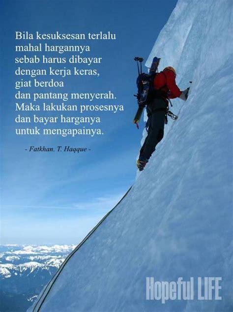 hopeful life kesuksesan  puncak gunung perjuangan