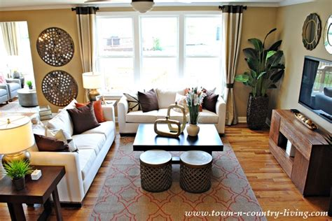 industrial chic living room industrial chic model home town country living