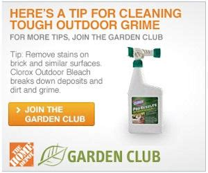 home depot garden club free product sles