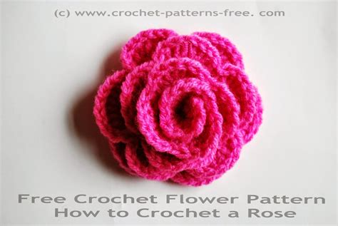 free pattern on how to crochet flowers free crochet flower pattern how to crochet a rose free