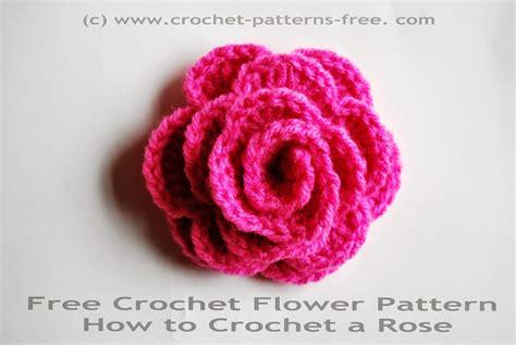 crochet flower pattern easy free free crochet flower pattern how to crochet a rose free