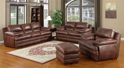 baron sectional living room set 1 ottoman furnituredfo com baron brown living room set from leather italia coleman