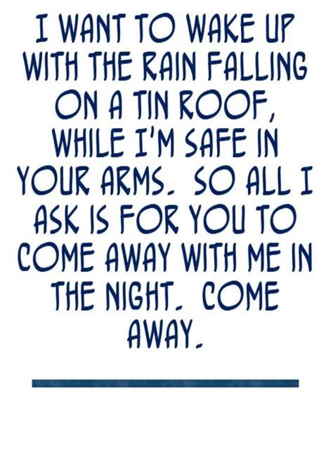 Come Away With Me To A Place Lyrics Norah Jones Come Away With Me Song Lyrics Song Quotes