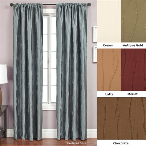 overstock drapes bon rod pocket 108 inch curtain panel contemporary