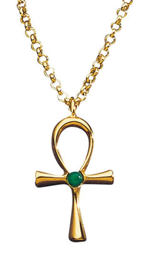 gold plated silver ankh cross necklace