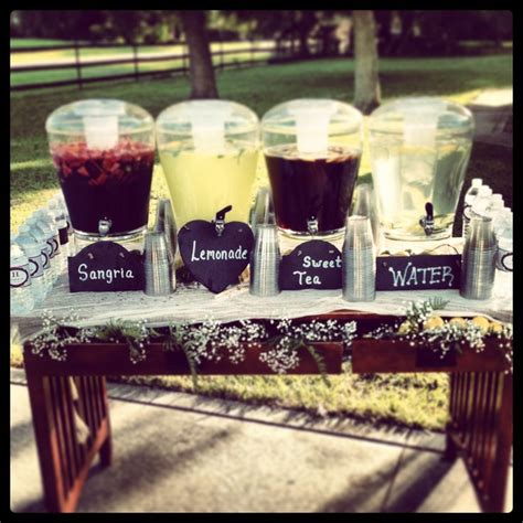 25 best ideas about drink table on pinterest garden