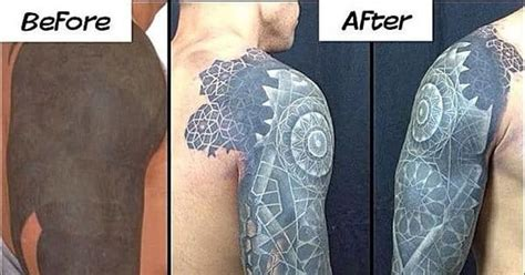 tattoo cover up with white ink color and white ink over blackwork tattoos tattoodo