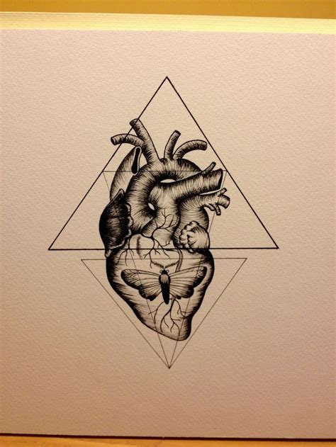 geometric heart tattoo best 25 real tattoos ideas on geometric