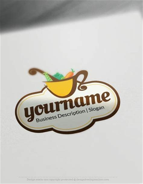 logo design free online templates design free logo vegetable bowl online logo templates