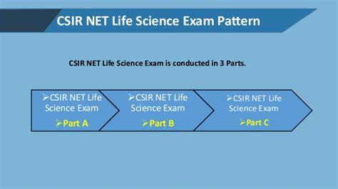 pattern of csir ugc net csir net life science important details