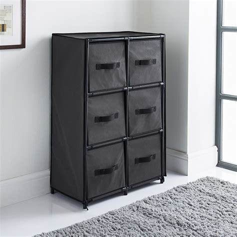 Canvas Storage Drawers by Canvas 6 Drawer Unit Grey Storage Furniture