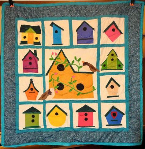 Birdhouse Quilt by Applique Birdhouse Quilt Quilting
