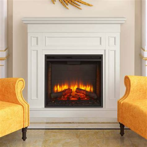 White Mantel Electric Fireplace by Monarch Electric Fireplace Mantel Package In White