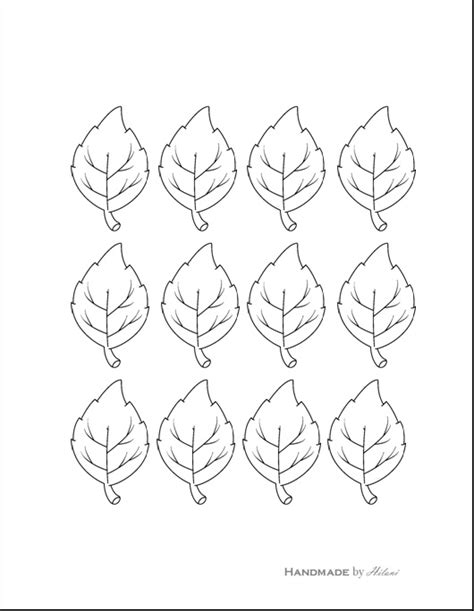 printable small leaves best photos of small leaf template printable leaves