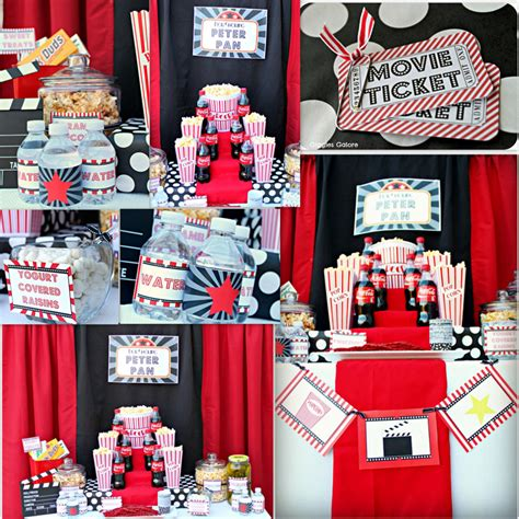 printable movie party decorations movie party package instant download dimple prints shop