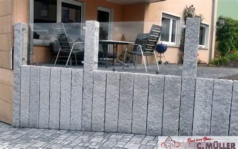 garten müller granit design zaun