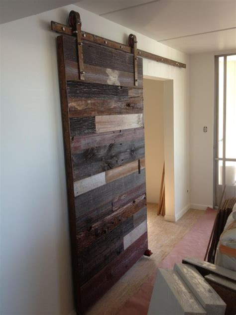 reclaimed wood sliding barn doors contemporary reclaimed barn wood sliding door by porter