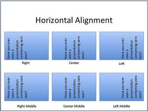 html layout elements horizontally text layout options in powerpoint 2011 for mac mac
