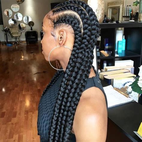 braids u can get with two packs of weave perfect feed ins via tiff styles black hair information