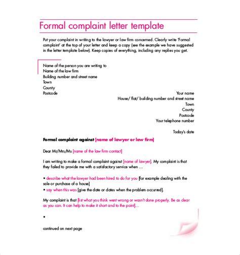 19 Formal Complaint Letter Templates Pdf Doc Free Premium Templates Formal Agreement Template