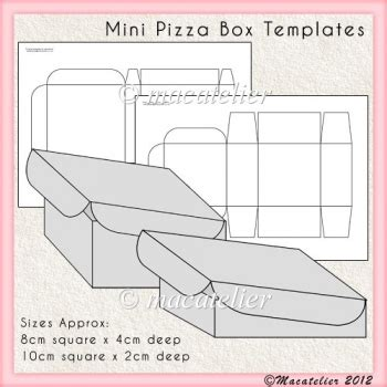 Pizza Template For A Card by Mini Pizza Box Templates 163 2 50 Instant Card