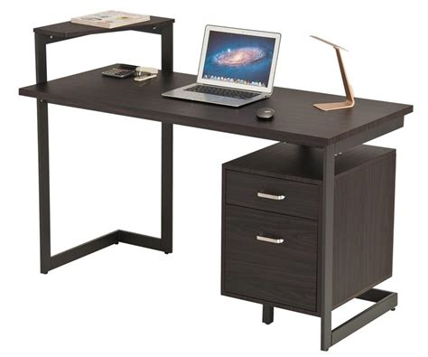 laptop writing desk office desk with two drawers computer pc laptop writing