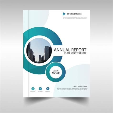 free design cover report brochure with circular shapes annual report vector free