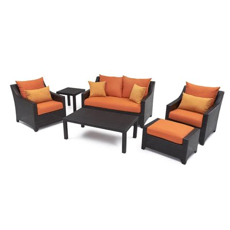 Deco Glider Patio Seating Set Rst Brands Deco 6 Patio Seating Set With Tikka